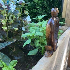 None Accents - Wooden heart sculpture